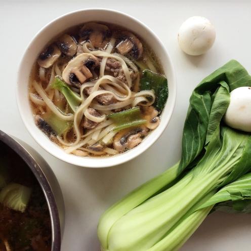 One pot Asian noodle soup