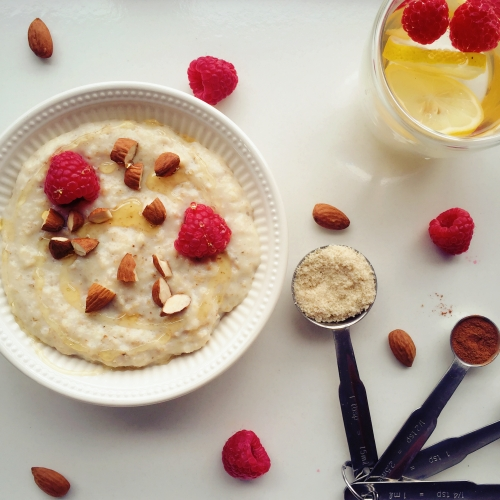 Triple almond oatmeal