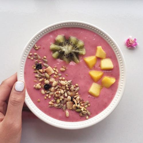 bubblegum pink smoothie